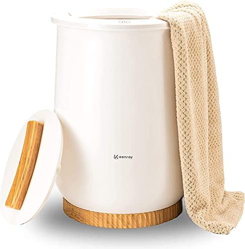 Keenray 20L Bucket Style Handtuchwärmer, Bad Elektro-Heißtuchdampfer Home Schnelle Heizung Vertikale Thermostat-Handtuchheizung für übergroße Bademäntel, Decken, PJs und mehr, Auto Shut Off, Weiß