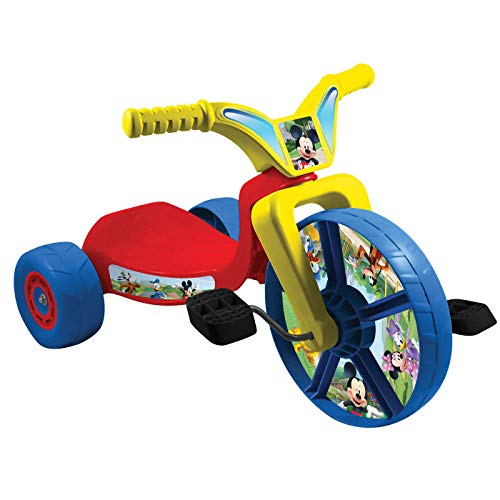 Mickey Mouse Fly Wheel Junior Cruiser Kids Tricycle 10 Inch Wheel