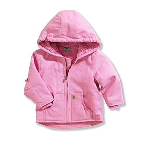 Carhartt Baby Girls' Redwood Jacket Sherpa Lined, Pink, 24 Months