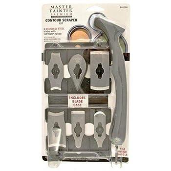 Allway Tools Soft Grip Handle Contour Scraper Set with 6 Blades