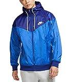 Nike Men's Sportswear Windrunner Plus Hooded Jacket (Deep Royal Blue/Game Royal/White, Large)