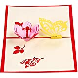 3 Pcs 3D Laser Cut Butterfly Flower Paper Invitation Greeting Cards + Envelope Thanksgiving Mother's...