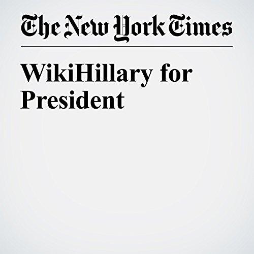 WikiHillary for President cover art