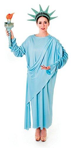 Emmas Wardrobe América Estatua de la Libertad Disfraz - Incluye el Vestido y el Casco
