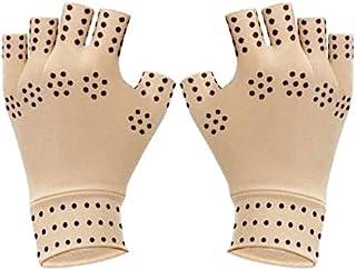 OFKPO 1 paar halve vinger magnetische therapie handschoenen, magnetische artritis handschoenen