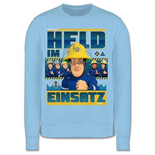 Shirtracer Feuerwehrmann Sam Jungen - Held im Einsatz - 140 (9/11 Jahre) - Hellblau - Pullover Jungen Feuerwehr - JH030K - Kinder Pullover