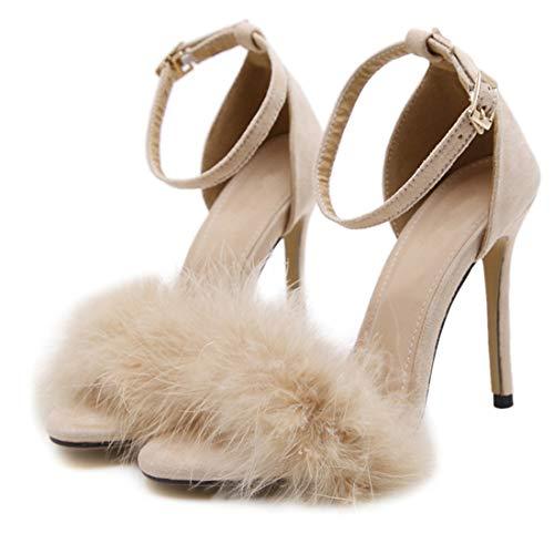 Damen High Heel Pumps Sandalen Party Schuhe Damen Riemchensandaletten Schuhe