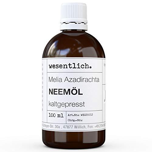 wesentlich. Neemöl kaltgepresst 100ml - 100% reines Öl (Melia Azadirachta)