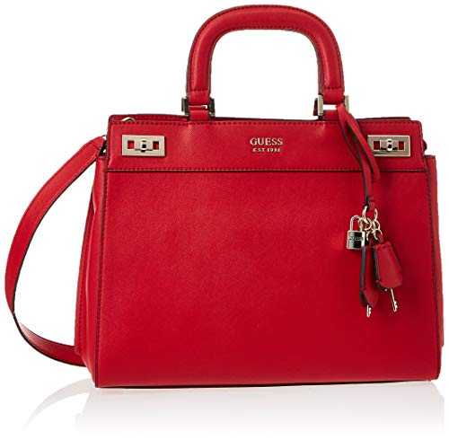 Guess Katey Luxury Satchel, Bags Crossbody Donna, Red, One Size