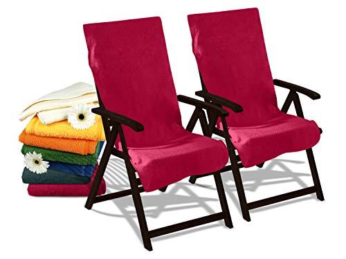 Dyckhoff Doppelpack Schonbezüge für Gartenstuhl & Gartenliege 277.297, Gartenstuhl (60 x 130 cm), Bordeaux