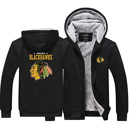 MILAOSHU NHL Hockey Jersey Chicago Blackhawks Männer Hoodie Pullover Pullover Verdicken Jacken Sweatshirts T-Shirt Winter Thermo Mäntel Outwear Casual Sweatshirt