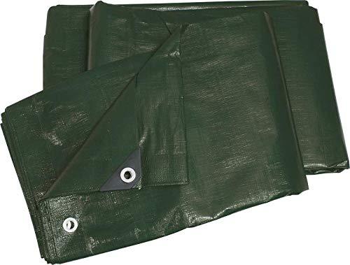 gewebeplane abdeckplane vert avec oeillets étanche indéchirable - 6 x 10 m