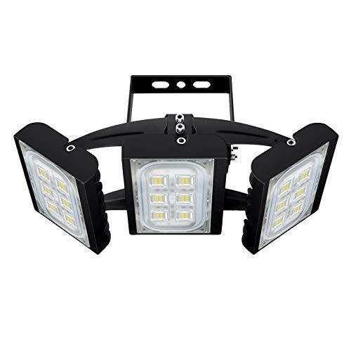 CHICLUX 90W LED Outdoor Leuchte für Garagen, 8100 LM, 6000K (Tageslichtweiß) Sicherheits-Flutlicht, Scheinwerfer mit verstellbarem Kopf für Scheune, Patio, Hof