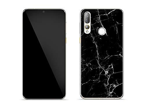 etuo Hülle für HTC Desire 19 Plus - Hülle Fantastic Hülle - Schwarze Marmor Handyhülle Schutzhülle Etui Hülle Cover Tasche für Handy