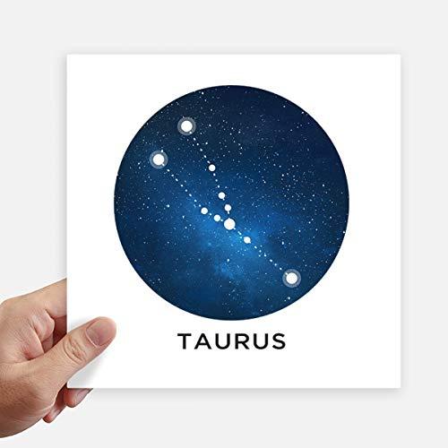 DIYthinker Taurus sterrenbeeld sterrenbeeld sterrenbeeld Vierkante Stickers 20Cm muur koffer Laptop Motobike Decal 4 Stks
