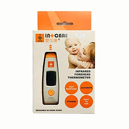 Freshliance Digital Min 1*AAA Battery Medical Infrared Thermometer for Forehead and Ear Thermometer for Baby Kids and Adults with Fever Indicator CE and FDA Approved Easy to Carry