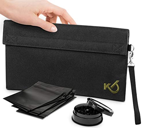Smell Proof Bag with Grinder and Re…