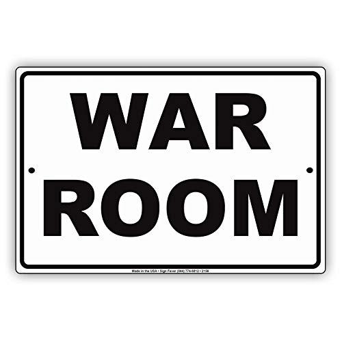 529 War Room Man Cave Do Not Disturb Ridiculous Humor Funny Alert Warning - Placa de metal de aluminio de 20 x 30 cm