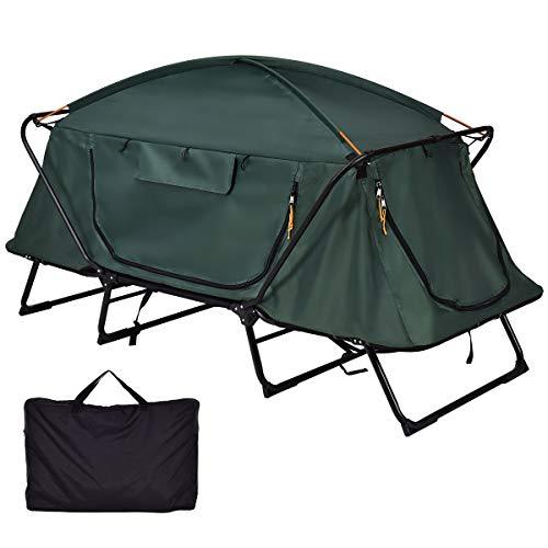 Tangkula Tent Cot Folding Waterproof 1 Person Hiking Camping Tent
