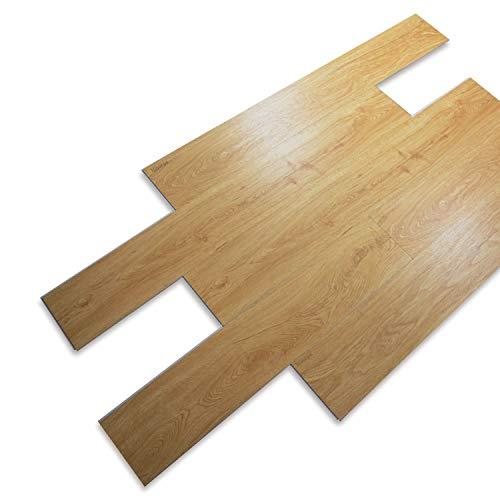 12 piezas 122 x 18,3 x 0,5 cm SPC suelo laminado, 5 mm SPC, revestimiento de vinilo/suelo/suelos altamente texturizados/tablones decorativos/roble/2,68 m²