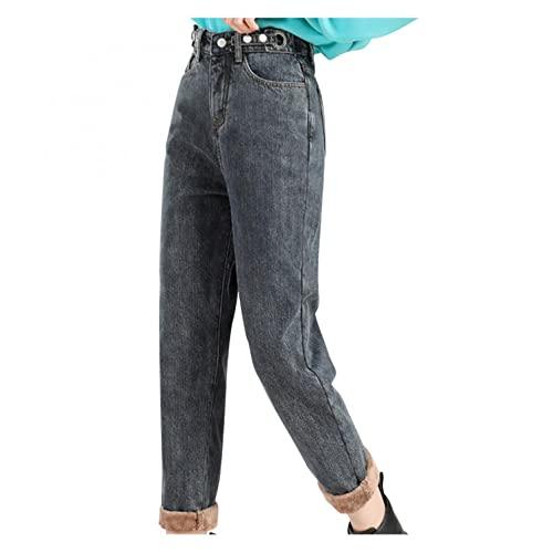 Pantalones Forro Polar Mujer Invierno Cálido Pantalones Grueso Polainas de Mujer de Vestir de Cintura alta Medias Pantalón de Corte Recto Leggins deporte Mujer Colores Algodón Y Mezcla Talla (25~32)