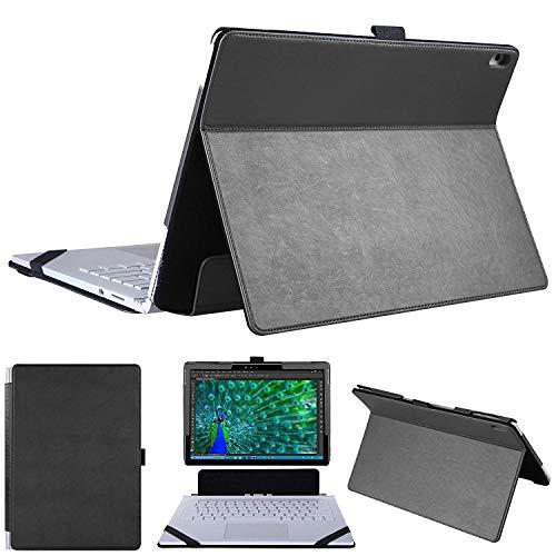 HoYiXi Funda para Microsoft Surface Book 3 & Surface Book 2 Especial Funda 2 en 1 Kickstand Book Estilo Smart Case para 13.5 Pulgadas Surface Book 3 & Surface Book 2 & Surface Book 1 - Negro