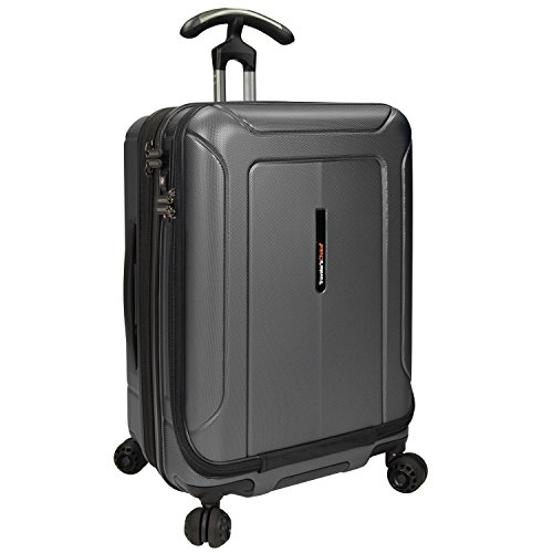 Traveler's Choice Barcelona Polycarbonate Spinner & Packing Cubes Luggage Set, Grey, Carry-on 22-Inch