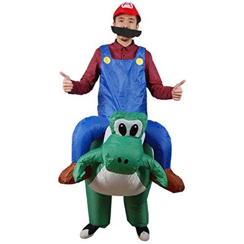 LXLTLB Halloween Adulto Inflable T Rex Dinosaur Partido Dinosaurio Hinchable Traje Funny Dress Disfraz Hinchable