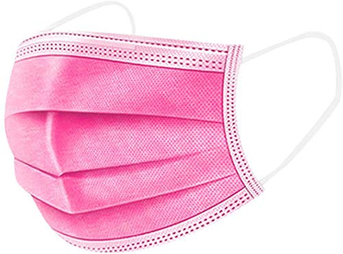 ARES 50PCS, tela no tejida de tres capas, salud/limpieza/exterior(rosado1)