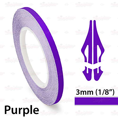 AutoXpress   1/8' 3mm Purple Roll Pinstriping Styling Trim Coachline Pin Stripe Self Adhesive Line Car Motorcycle Truck Bike Model Vinyl Tape Decal Stickers   32 ft 9.80m