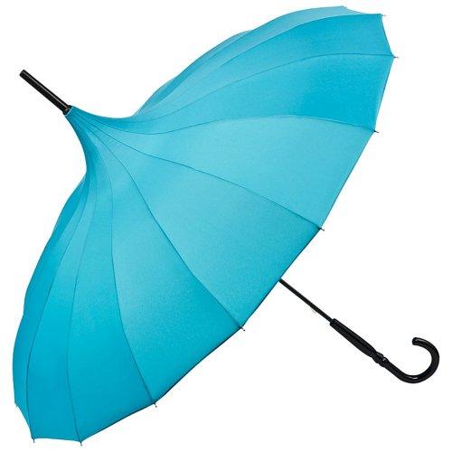 VON LILIENFELD Regenschirm Damen Sonnenschirm Brautschirm Hochzeitsschirm Pagode Cécile petrol