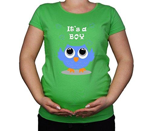 Maternité Grossesse Taille 10–20 Coton Chouette C'est Boyl Cute T-Shirt Top Tunique Imprimé - - Moyen