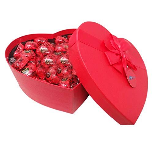 CUORE , confezione con elegante scatola REGALO da 250 GR, Lindt Cuore Fondente , idea perfetta per il tuo S.Valentino