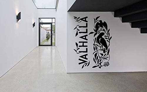 Vinyl Sticker Valhalla Heaven Ravens Viking Scandinavian Mythology Ornament Mural Decal Wall Art Decor EH1578