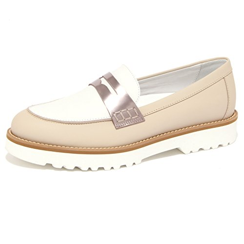Hogan 1524Q Mocassino Route Beige/Bianco Scarpa Donna Shoe Woman [35.5]