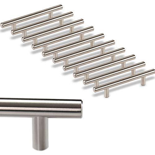 10 x SO-TECH® Möbelgriff G17 echt Edelstahlrohr Ø 12 mm/BA 96 mm Stangengriffe Relinggriffe