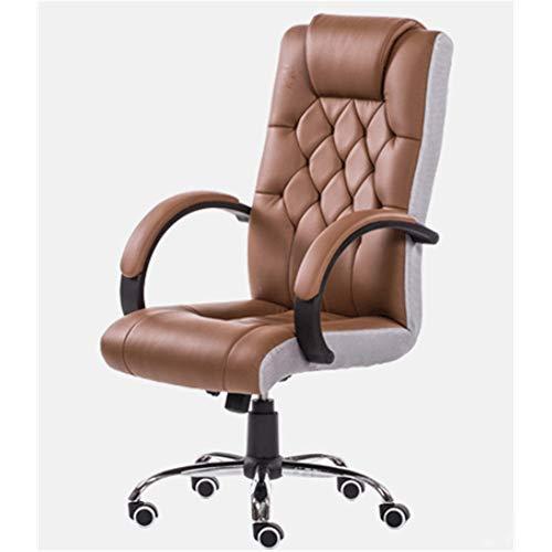 Computer Home Office Game Chair Moderne, duurzame mesh tafel en stoel draaiende ergonomie optillen eenvoudige bureaustoel bruin