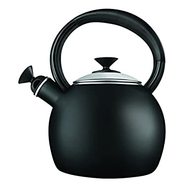 Copco 2503-1041 Camden Enamel-on Steel-Tea Kettle, 1.5-Quart, Black