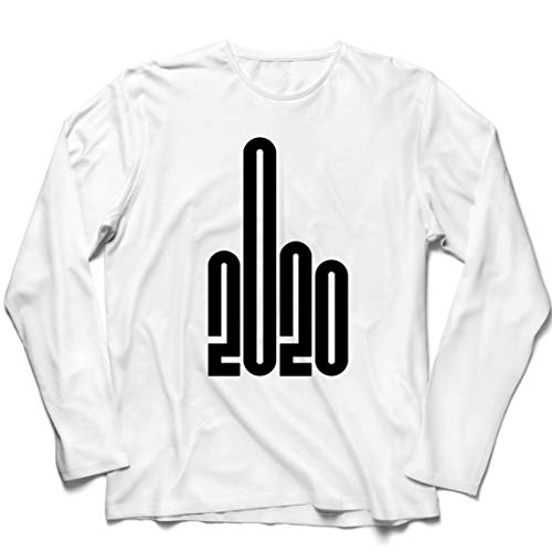 lepni.me Camiseta de Manga Larga para Hombre 2020 Gracioso Traje Sarcasmo Novela Gráfica Humor (Small Blanco Multicolor)