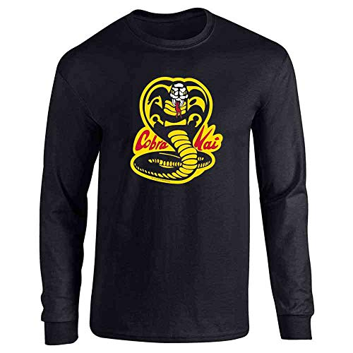 Cobra Kai Costume The Karate Kid Retro Martial Art Black M Full Long Sleeve Tee T-Shirt