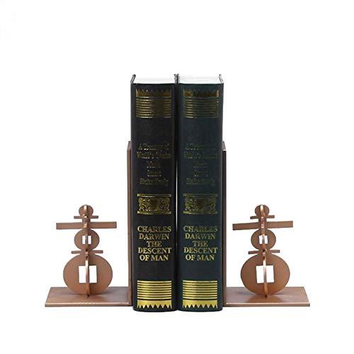 SQQSLZY Decorative Bookends, Exquisito Libro péndulo, Libro Creativo Pendulum, Chino Moderno de Metal Soporte de Metal decoración-Sala de Estar gabinete de Vino Libro de Estudio Estudio o
