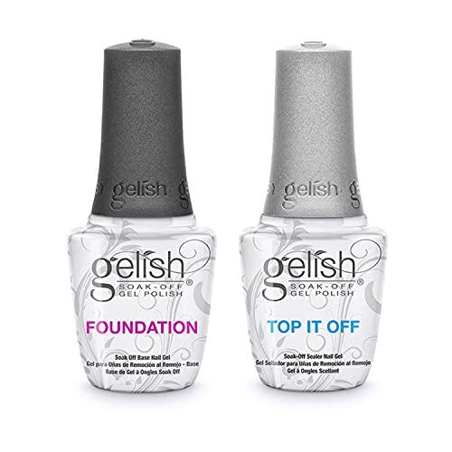 Gelish Dynamic Duo Foundation Base & Top It Off Sealer Soak Off Gel Nail Polish Essential Set