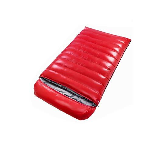 ZHANG HONG-carpet Z-H-C Double Down Sac De Couchage, Équipement De Camping Imperméable Étanche for Adultes Voyage Et Activités en Plein Air (Color : Red, Size : 1500g)