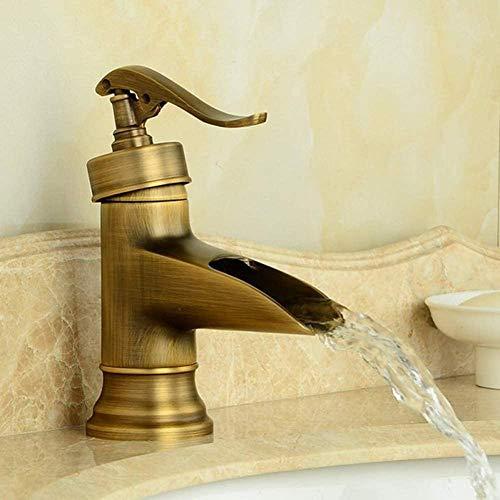 Wasserhahn Wasserpumpe Look Style Antik Messing Einhand Bad Deck Deck montiert Wasserhahn Gefäß Waschbecken Waschbecken Waschtisch