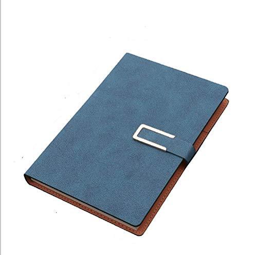 Tianneng Diario di Fascia Alta Blocco Note Creativo A5 Notebook Set B5 Business Notebook Cover in Pelle di Pecora Notebook 14 * 21cm Blu