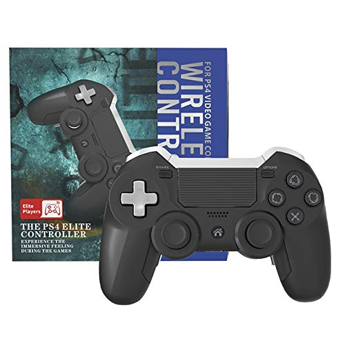 Zamia PS4 Elite Controller with Back Paddles, 6 Axis Sensor Modded Custom programmable Dual Vibration Elite PS4/PC Wireless Game Controller Joystick for FPS Games