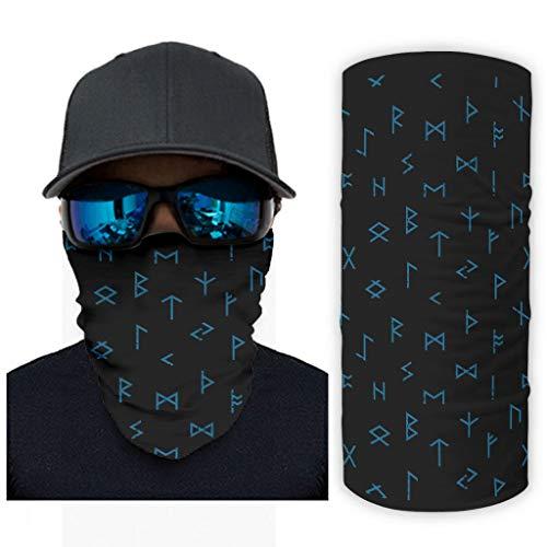 Pañuelo para hombre, diseño de palabras vikingas, multifuncional, casual, de moda, se puede utilizar como pasamontañas Kerchief UV sol/viento para deportes blanco onesize