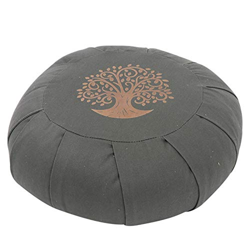 SFGSA Cojín de meditación para yoga, almohada de lujo Zafu para yoga, almohada de meditación de trigo sarraceno para estudio en casa, verde