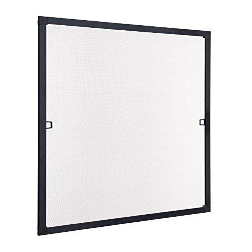 Ventanara Insektenschutz Fliegengitter Fenster Spannrahmen Anthrazit RAL 7016 (100 x130 cm)