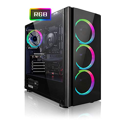 Megaport Game PC AMD Ryzen 5 2600 6 x 3.90 GHz Turbo • AMD Radeon RX 5700 8GB • 1000GB Harde schijf • 16GB DDR4 RAM • Windows 10 • WIFI gamer pc computer gaming computer
